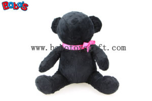 Personalized Gifts New Design Plush Toy Teddy Bear in Black Color with Pink Ribbon pictures & photos