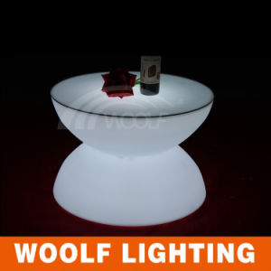 LED Light Plastic Round Outdoor Bar Table pictures & photos