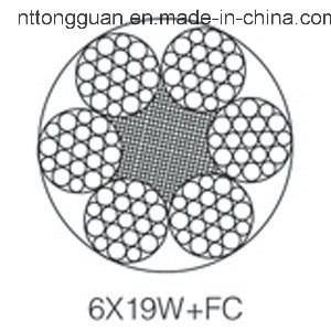Ungalvanized Elevator / Lifting Steel Wire Rope 6X19W+FC Hot Sell pictures & photos