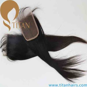 Virgin Silky Straight Top Closure Hair Piece pictures & photos