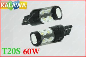 1 Pair 60W T20 7440 6000k Fog Light Osram Chip Black Metal Type High Power LED Lamp Car Headlamp DC12-24V ^Jmq