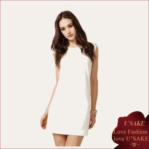 High Quality Fashion Lady White Chiffon Dress for Sale (S304083)