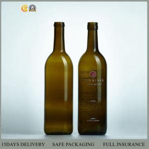 750ml Flat Bottom Bordeaux Glass Wine Bottle (01 glass wine bottle) pictures & photos