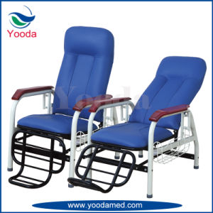 Hospital Stainless Steel PVC Leather Transfusion Chair pictures & photos