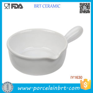 for Sale White Ceramic Fry Pan Style Cake Pan pictures & photos