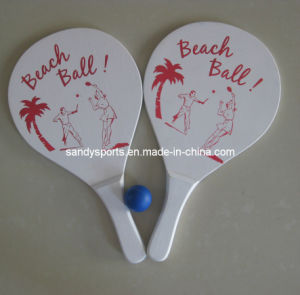 Promotion Customized Wooden Beach Racket with Ball pictures & photos