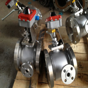 Steam Jacket Insulation Ball Valve with Limit Switch pictures & photos