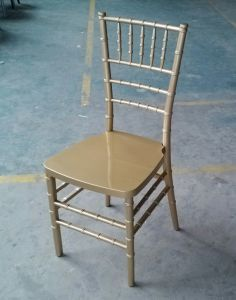 Monoblock Resin Gold Chiavari Chair, One-Piece Tiffany Chair pictures & photos