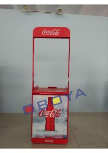 Cola Cart with Header, Shelf, Rack for Supermarket pictures & photos