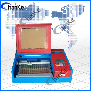 Ck400 40W Mini Laser Stamp Machine for Rubber Wood MDF Plywood Acrylic pictures & photos