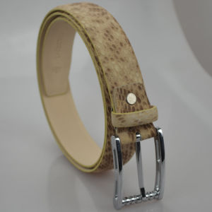 Tailor Smith Stylish Leather Belt Top Grain Genuine Brown Fashion Snakeskin Pattern Formal Business Party Strap Belts pictures & photos