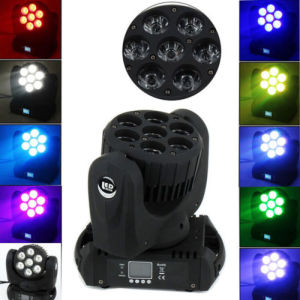 RGBW 7X12W LED Beam Wash Moving Head Stage Lighting pictures & photos