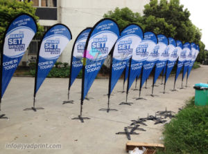 Nes Design Outdoor Customized Advertising Teardroop Flag With Banner Printing pictures & photos