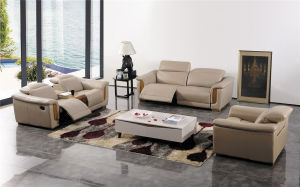Modern Living Room Furniture Leather Sofa Set pictures & photos