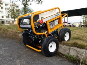 7500 Watts Portable Petrol Generator with RCD and 4 X Pneumatic Large Wheels (GP8000SE) pictures & photos