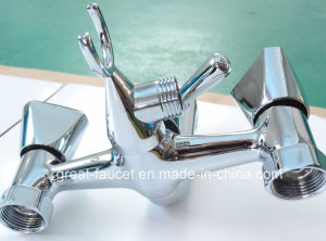 Brass Bathroom Shower Mixer with Bracket pictures & photos