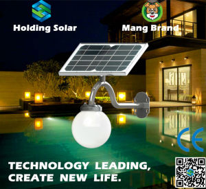 Monocrystal Solar Panel LED Lamp for Garden with Waterproof pictures & photos
