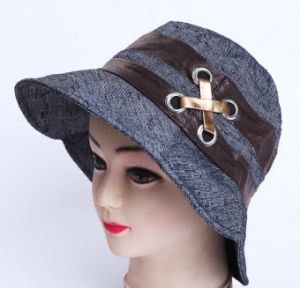 Fashion Design Embroidered Women′s Hat pictures & photos