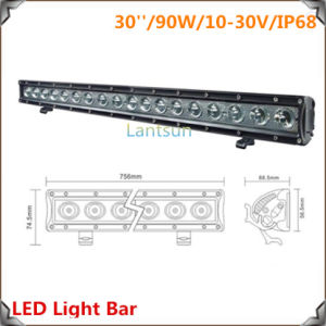 90W Aurora LED Offroad Light Bar (LED7-90W) pictures & photos