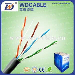 UTP Cat5 4p Network Cable with Flame Retardant /PVC Jacket