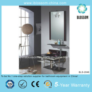Bathroom Vanity Combo Vessel Lacquer Glass Basin with Mirror (BLS-2046) pictures & photos