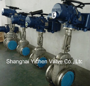 API 6D Rising Stem Motor Operated Gate Valve pictures & photos