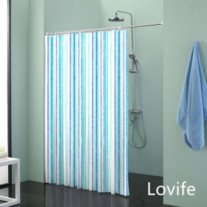 Shower Curtain Bathroom Waterproof Curtain (JG-233) pictures & photos