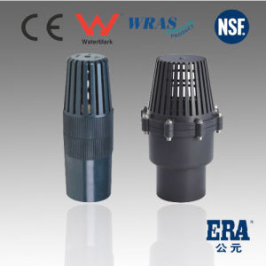 China pvc foot valve with socket or thread bspt npt for Mineral wool pipe insulation weight per foot