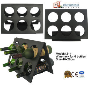Folding Leather Wine Rack for 6 Bottles (1214) pictures & photos