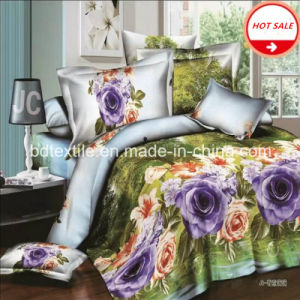 100% Polyester Microfiber Printed Fabric for Bed Sheet pictures & photos