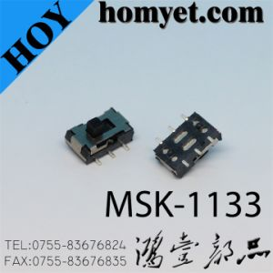 China Manufacturer High Quality Slide Switch with 6 Pin SMD (MSK-1133) pictures & photos