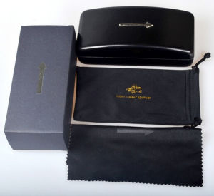 Famous Brand Glasses Black Leather Packing Box pictures & photos