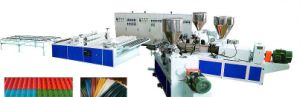 PVC Corrugated Sheet Extruder pictures & photos