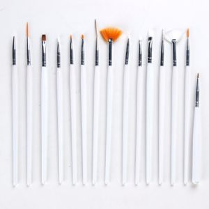 Nail Art Brushes Set, 15PCS White Decorations Gel Painting Pen Nail Brush pictures & photos