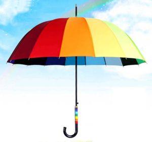Delicate Rainbow Design Straight Umbrella for Women (LGUZ14022)