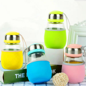 Hot Sale Portable Glass Cup with Lid and Filter Sport Cup pictures & photos