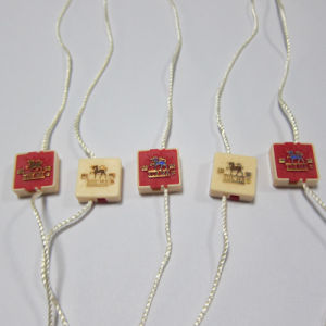 Luggage String Tag Electroplate Hand Seal Tag pictures & photos
