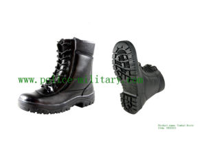Military Tactical Combat Boots Black Leather Shoes CB303013 pictures & photos