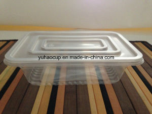 Disposable Plastic Food Container with Lid (YHP-165) pictures & photos
