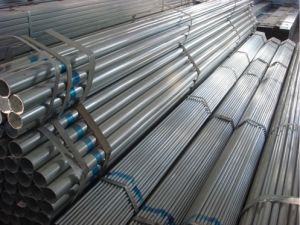 DIN 2440 Galvanized Steel Pipe with ISO Threads and Couplings pictures & photos