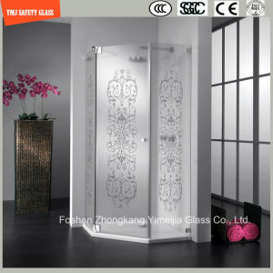Acid Etched & Silk Screening Glass Shower Panel pictures & photos