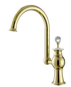 Golden Swivel Kitchen Sink Mixer pictures & photos
