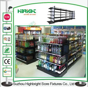 Steel Supermarket Shelf Black Color Retail Store Shop Shelving pictures & photos
