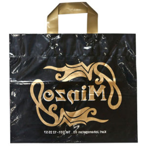CPE Double Layer Plastic Loop Handle Bags for Promotional Gift (FLL-8381) pictures & photos