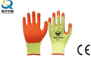 10g T/C Shell Latex Palm Coated Safety Glove pictures & photos