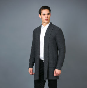 Men′s Fashion Cashmere Blend Sweater 17brpv086 pictures & photos