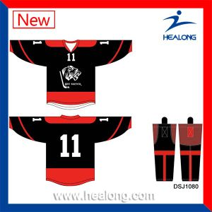 Healong 100 Polyester Fully Dye Sublimation Ice Hockey Jersey pictures & photos