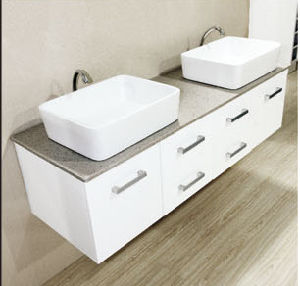 New Modern Double Sink Bathroom Vanity with Sink pictures & photos