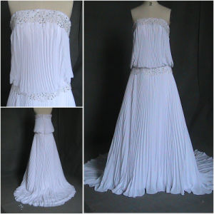 Drop Waist Chiffon Wedding Dress