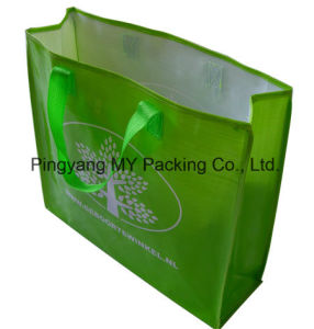 Novelty Advertising Film Colorful Supermarket Shopping Tote PP Woven Bag pictures & photos